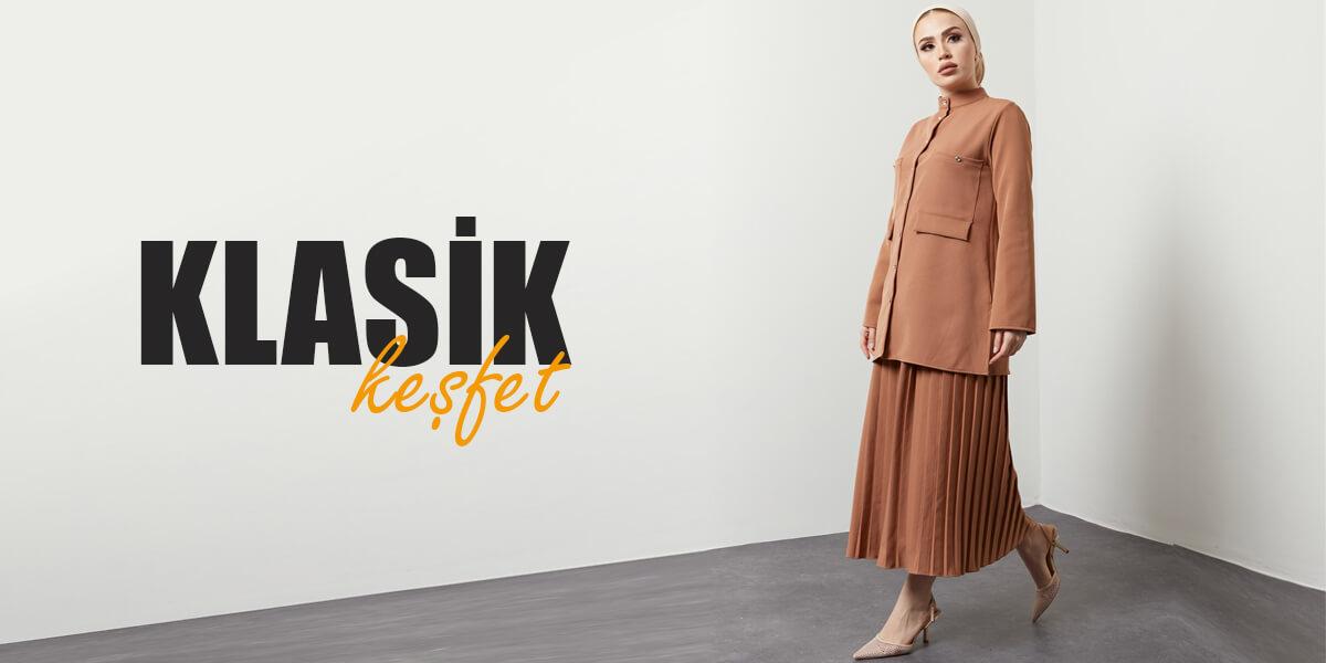 Klasik Tesettür Giyim Modelleri
